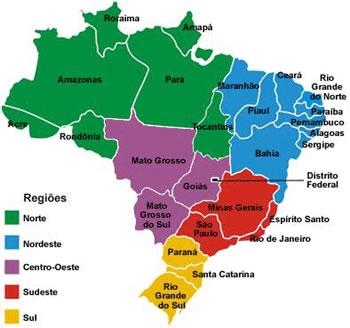 Mapa Politico Brasil - Provik